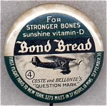 Bond Bread Airplane Advertising Pin Back Button