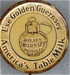 Golden Guernsey Dairy Pin Back Button