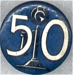 50 Years Of Telephone Ma Bell Pin Back Button