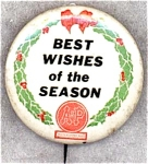 A And P Adv Best Wishes Grocery Store Pin Back Button