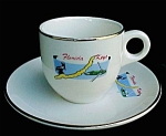 Florida Keys Souvenir Demitasse Cup Saucer