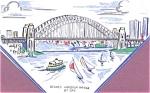 Australia Sydney Harbor Bridge Handkerchief