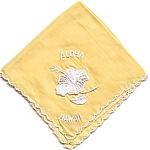 Aloha Hawaii Souvenir Handkerchief Hankie