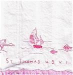 St. Thomas Souvenir Hand Towels Set Of 3
