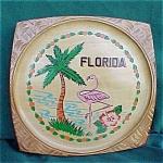 Florida Palm Tree, Flamingo Wood Souvenir Tray
