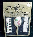 Childs Comb Brush And Flamingo Mirror Florida Souvenir Set
