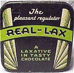 Real-lax Advertisng Laxative Tin