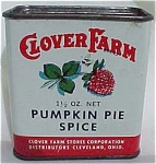 Clover Farms Pumpkin Pie Spice Tin