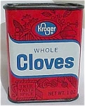 Kroger Cloves Spice Tin