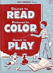 1954 Whitman Publishing Read Color Play Educational Book