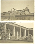 Lot Of Two Miniture Postcards Navy Ships