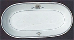 Syracuse Masonic Temple Restaurant Ware Oval Bowl