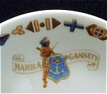 Narra Gansett Indian Logo Restaurant Ware Bowl