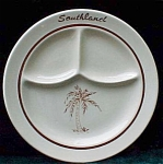 Southland Palm Tree Restaurant Ware Grill Plate