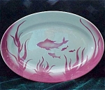 Jackson China Tropical Pink Fish Restaurant Ware Platter