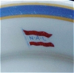 Norwegian America Line Steamship Restaurant Ware