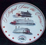 Delta Steamboat Co Souvenir Plate