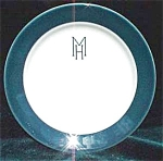 Homer Laughlin Airbrushed Restaurant Ware China Plate