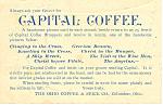 Capital Coffee Trade Card