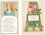 Victorian Religious Trade Cards Lot (2) Psalm