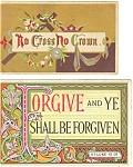 Victorian Religious Trade Cards Lot (2) Luke