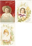 Victorian Advertising Trade Cards Lot (3).