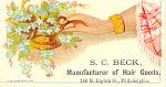 S.c. Beck Hair Goods Trade Card