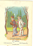 Partridges Cafe Trade Card