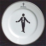 Black Waiter Room Service Restaurant Ware Plate