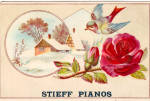 Stieff Pianos Trade Card