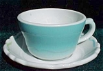 Shenango China Turquoise Cup And Saucer