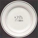Sterling China Dale's Steakhouse Atlanta Restaurant Plate