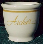 Archies Restaurant Jackson China Egg Cup