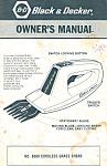 Black & Decker Cordless Grass Shear Manual