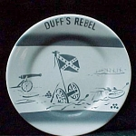 Wellsville China Duffs Rebel House Restaurant Ware Plate