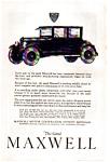1923 Maxwell Automobile Ad