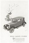 1926 Wills Sainte Claire Automobile Ad