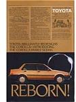 Toyota Corolla Ad Aug 1984