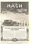 Nash 4-door Sedan Ad 1934