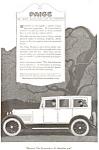 1920 Paige Automobile Ad