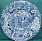 Carlsbad Caverns Flow Blue Souvenir Plate
