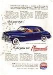 Plymouth Sedan Ad 1949