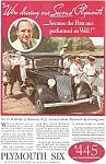 Plymouth Six Ad Ca 1933
