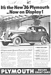 Plymouth Floating Ride Ad Ca 1936