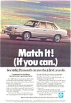 Plymouth Caravelle Ad 1985