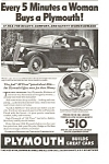 Plymouth Builds Great Cars Ad 1936