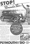 Plymouth Hydraulic Brakes Ad 1935