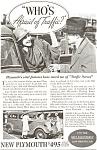Plymouth Afraid Of Traffic ? Ad 1934