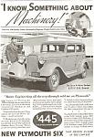 Plymouth Deluxe 4-door Sedan Ad 1933