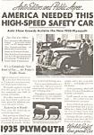 Plymouth Auto Show Ad 1935